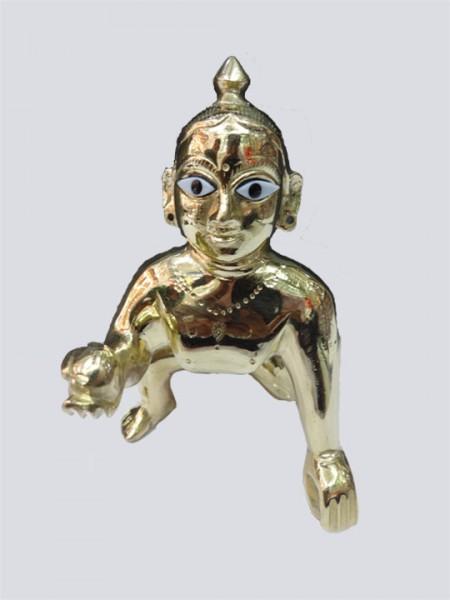 Idol Lord Laddu Gopal Ball Thakur Ji Brass Statue