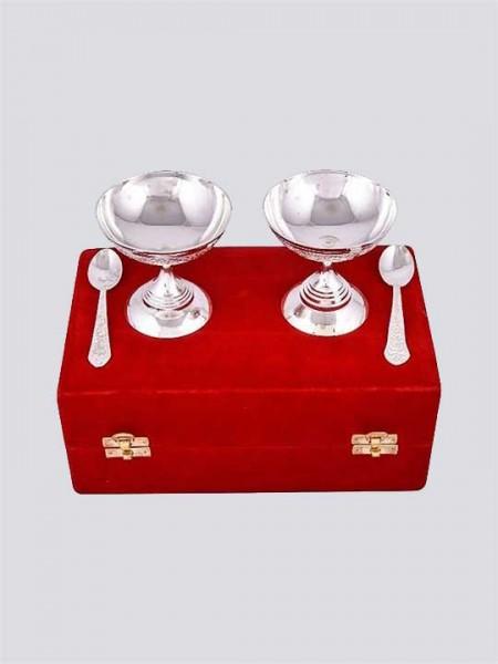 Brass Dessert Bowls with Plate
