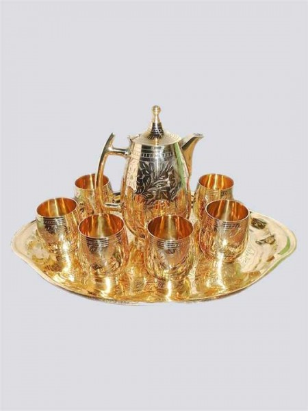 Brass Lemon Set pack of 6 Glasses