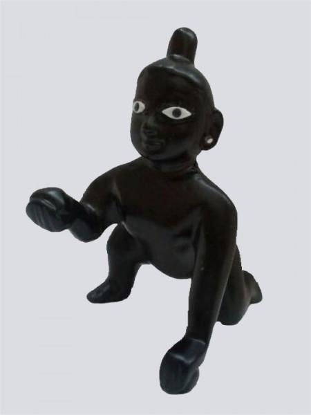 Black Lord Laddu Gopal Ball Thakur Ji Brass Statue
