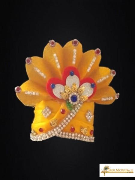 Laddu Gopal Ji Sheshnag Yellow Mukut Pagadi