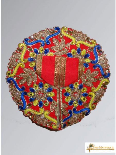 Laddu Gopal Ji Embroidery Royal Designs Red Dress/Poshak