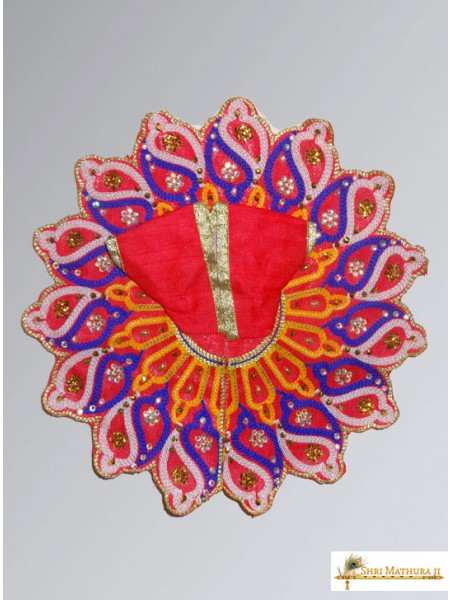 Laddu Gopal Ji Embroidery Shankh Multi Color Dress/Poshak
