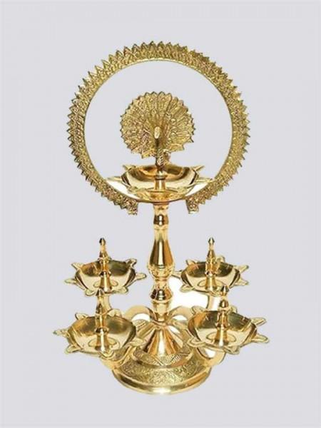 Traditional Royal Brass Pooja Aarti Diya