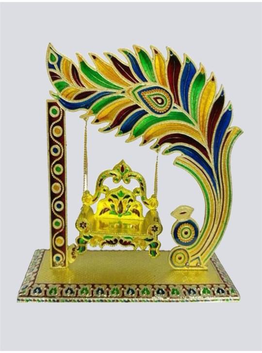 Janamshtmi Special Krishna Laddu Gopal More Pankh Jhula