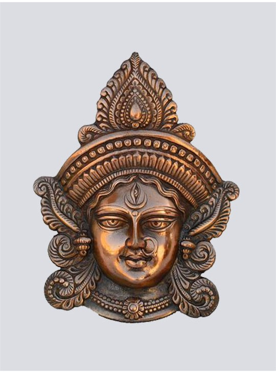 Goddess Durga Metal Wall Hanging