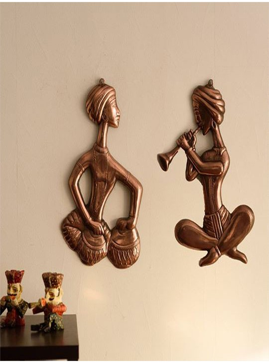 Musicians Metal Wall Hanging (Set of 2)