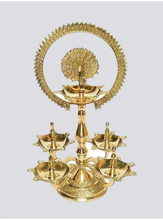 Traditional Royal Brass Pooja Aarti Diya
