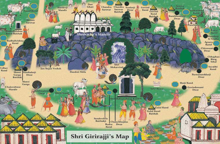 Shri Govardhan Parikrama Map
