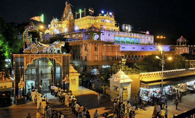 Shri Krishna Janamsthan Night View Temple Mathura