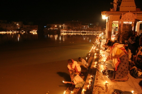 Diwali at Radha Kund Goverdhan