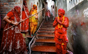 India - Lathmar Holi Festival of Colors