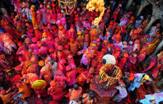 Holi in Barsana Temple