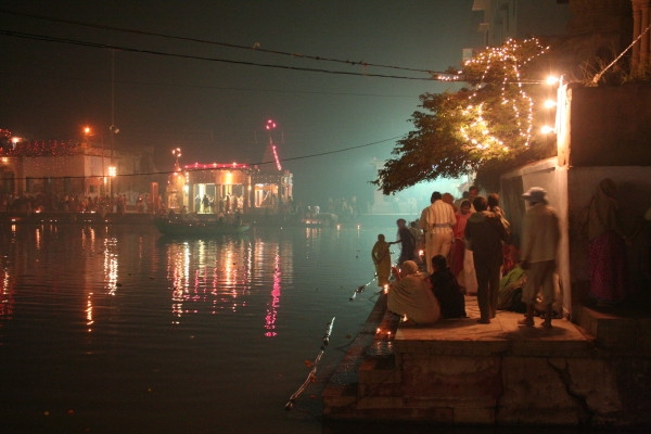 Night View Goverdhan Kund