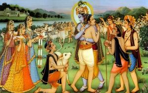 Lord-Krishna-Sudama-in-Vrindavan