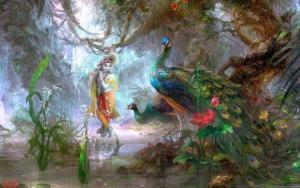 shri-krishna-peacock