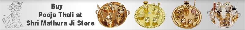 Store Shri Mathura Ji Brass Pooja Thali
