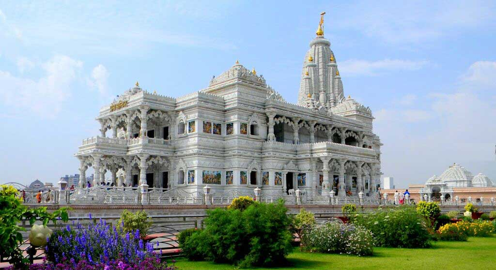 Prem Mandir Side View from Canteen
