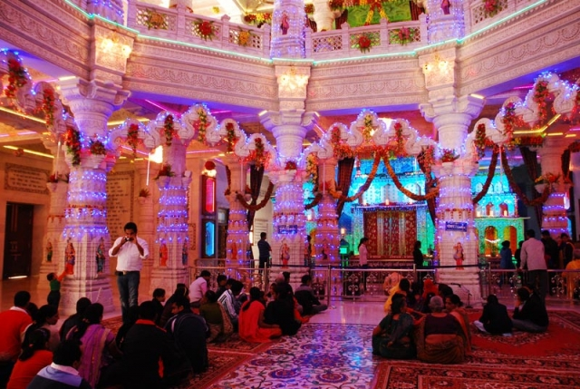 Inside Decoration at Prem Mandir Vrindavan