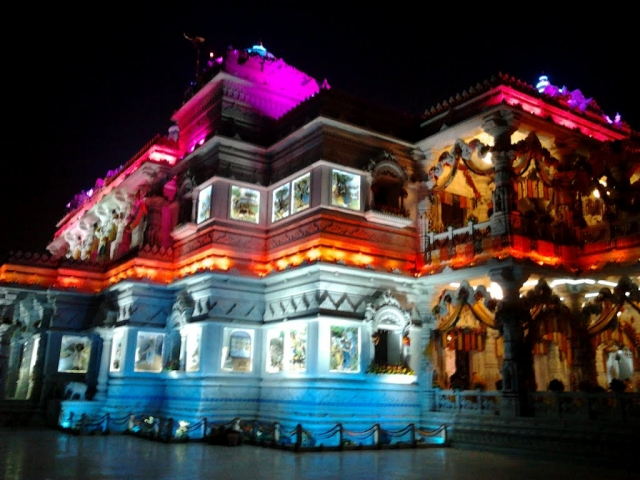 Night View Prem Mandir Vrindavan