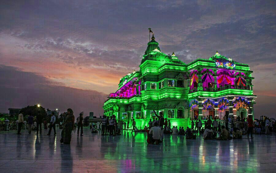 Prem Mandir Vrindavan Evening View