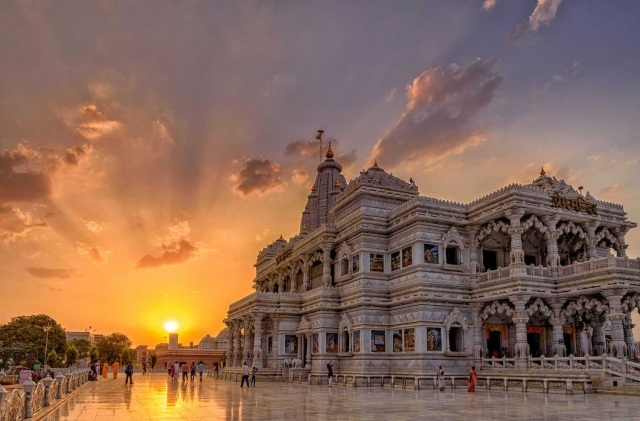 Sun Set View from Prem Mandir Vrindavan