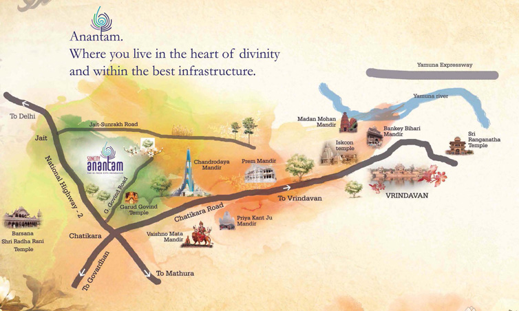 Suncity Anantam Location Map